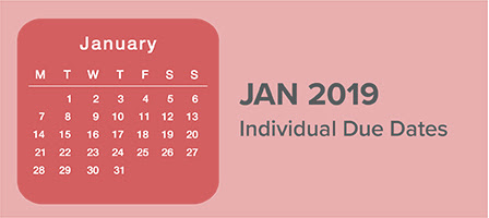 January 2019 Individual Due Dates