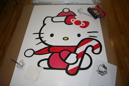 Hello Kitty Christmas Lawn Decoration