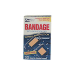 Coralite 80707901182 Clear Waterproof Bandage, Assorted, 30 Count