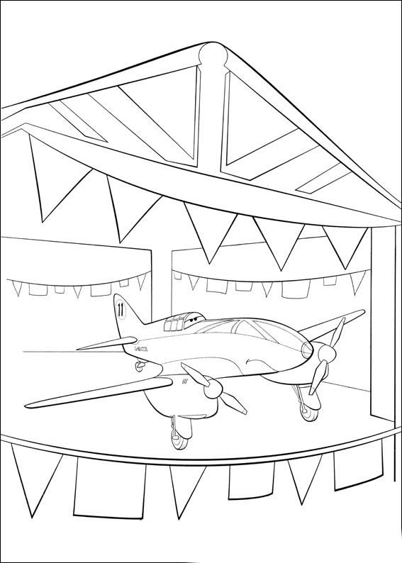 Coloriage Planes Bulldog à Imprimer