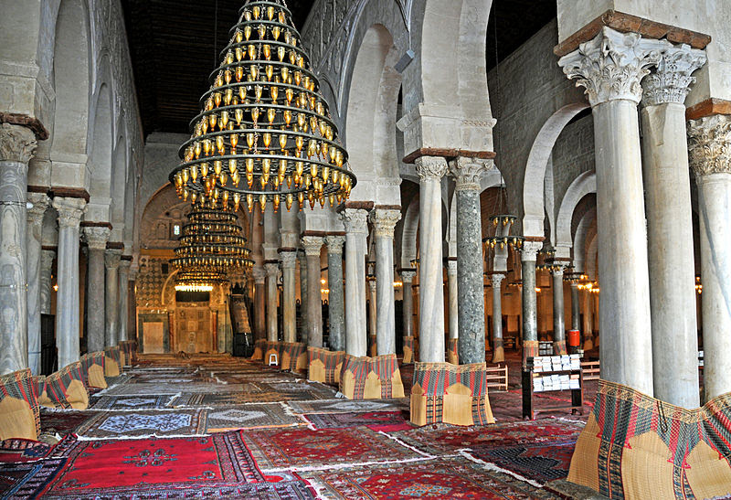 File:Great Mosque of Kairouan, prayer hall.jpg