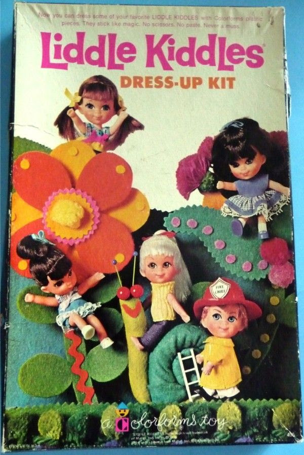 COLORFORMS: 1968 Liddle Kiddles Dress-Up Kit #Vintage #Toys