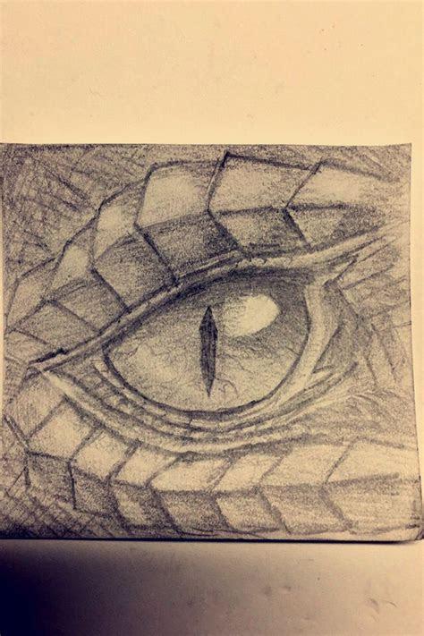 dragon eye sketch drawn  pencil  rebecca griffith