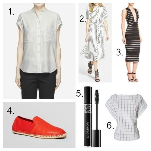 Rag and Bone Shirt - Glamorous Shirtdress - Bec and Bridge Dress - Eileen Fisher Espadrilles - Dior Mascara - Tibi Blouse