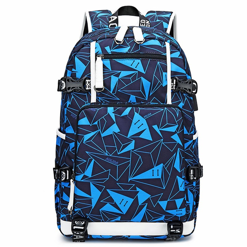 Hot Cool Colorful Boys Basketball Backpacks Laptop Backpack Student School Bags Men Geometric Pattern Mochila Feminina Schooltas New