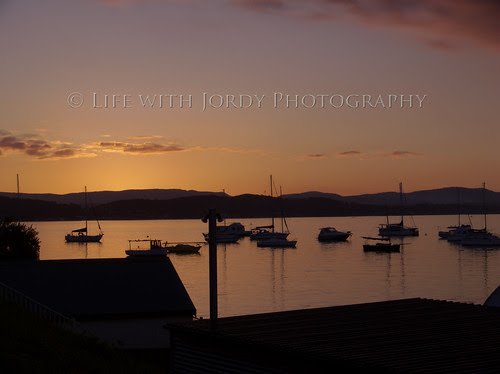 Sunset over the Marks Point Marina by Life with Jordy