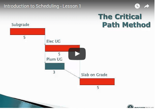 Lesson 1: Intro to Construction Scheduling ~ Encore Group