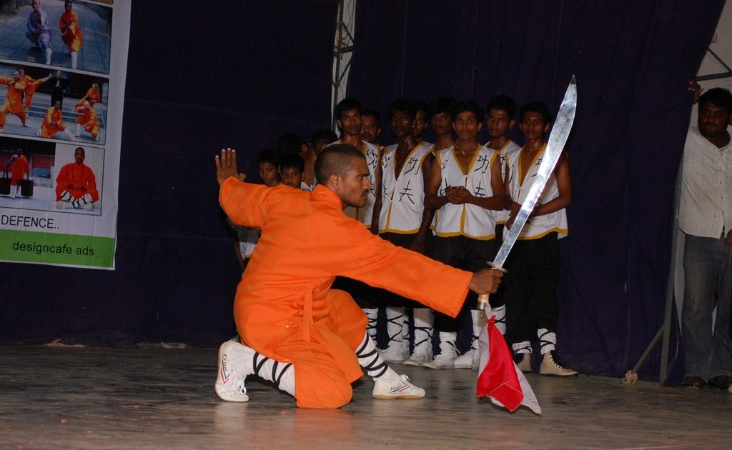 India Kung Fu Warrior Monk Training Shaolin Temple Broad