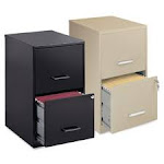 Lorell LLR14341 Steel File Cabinet 2-Drawer 14.25 in. x 18 in. x 24.5 in. Black