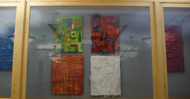 my paintings at the library