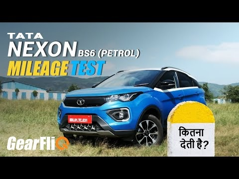 2020 Tata Nexon BS6 (Petrol) – Mileage Test | Hindi | GearFliQ