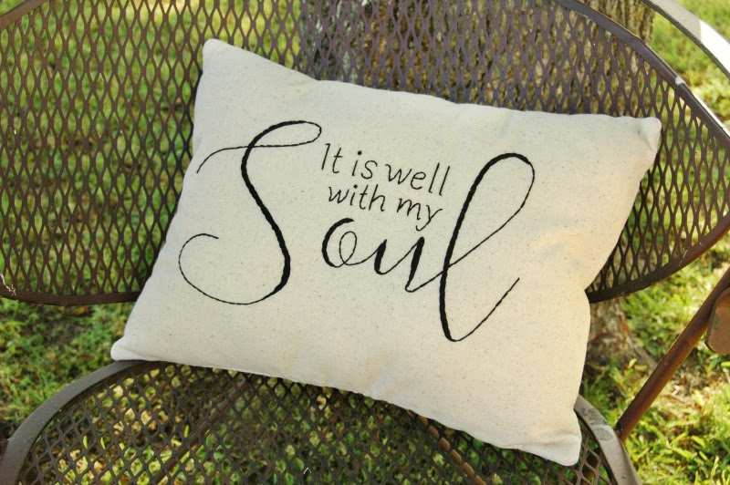 It Is Well With My Soul Farmhouse Pillow + Free Pattern