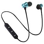 Bluetooth Earphone Magnetic Headphones XT-11 Wireless Sports Headset Bass Music Earpieces Mic Headset Blue