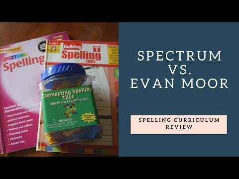Creative 2x Mom: Spectrum & Evan Moor Spelling {Review}