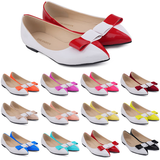 Details about  WOMENS FAUX LEATHER PATENT FLATS DOLLY BALLET PUMPS SWEET SHOES UK SIZE 2-9