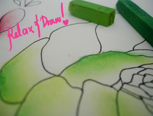 drawing, pastel drawing illustration, relaxation, drawing with pastels_RelaxingFriday