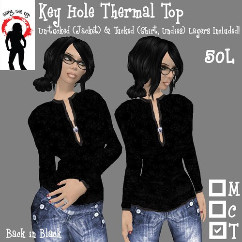 ".-*-. HANG THE DJ! .-*-.! Key Hole Thermal! in ""Back in Black"""