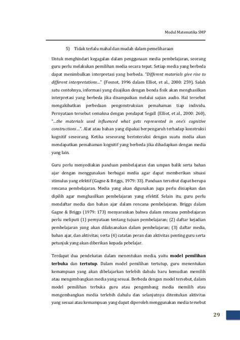 Materi GPO Matematika SMP Modul I