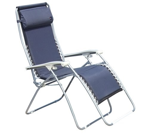 Faulkner Xl Recliner Navy Padded With Padded Arms Lafuma