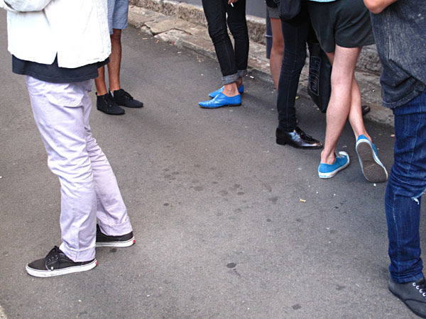 Blue Shoes, At Perry Lane