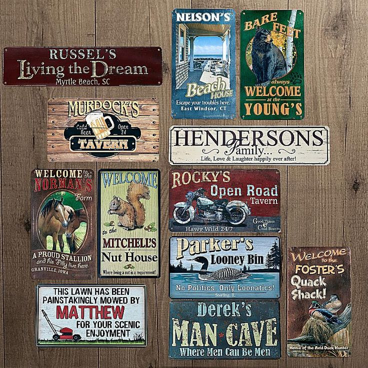 For   signs rustic Rustic    Home Pinterest the tin Signs Metal