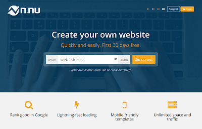 Create your own professional website with N.nu