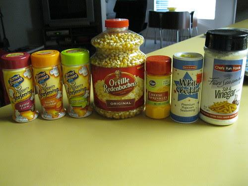 all my popcorn accessories
