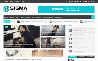 Sigma Responsive Blogger Template
