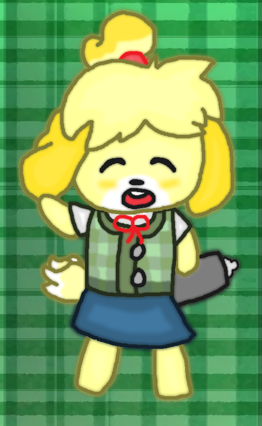 Animal Crossing-Isabelle by thegamingdrawer on DeviantArt