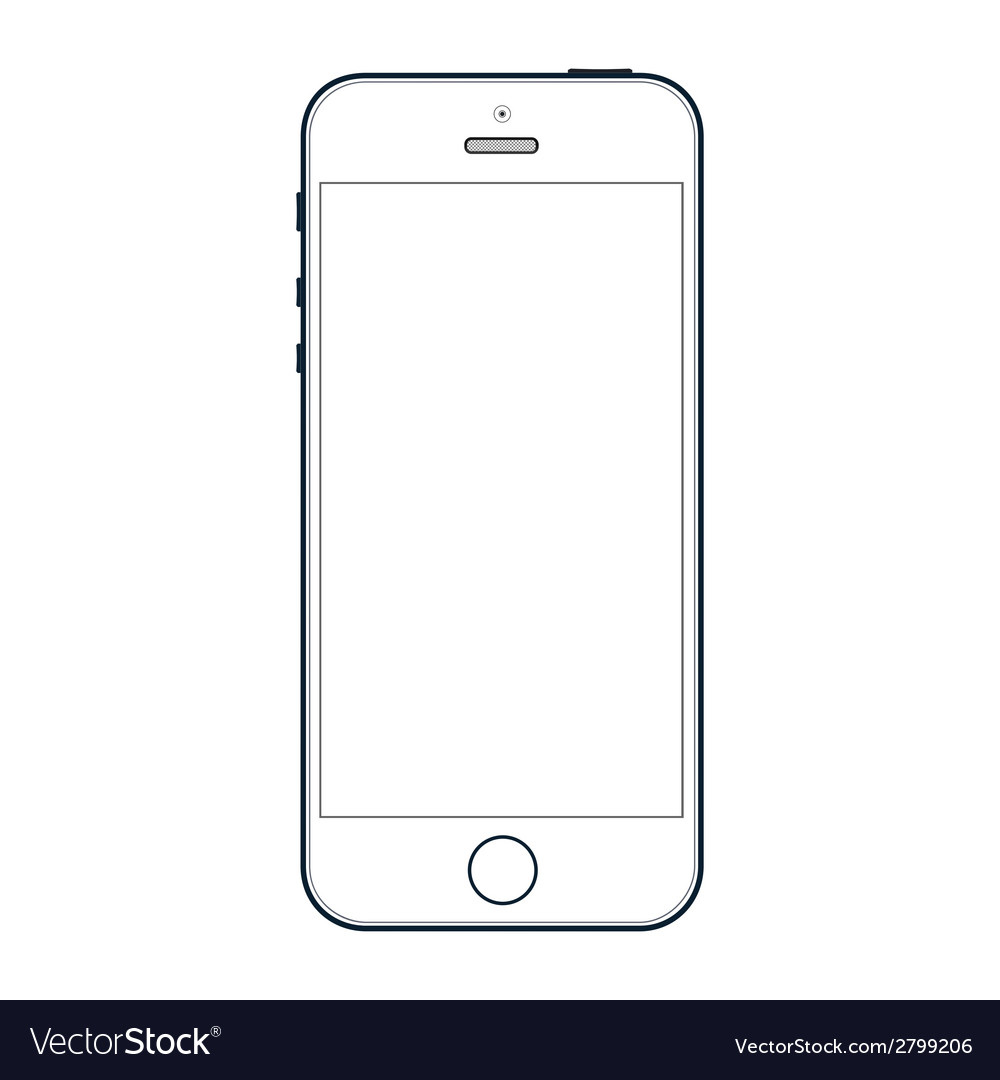 Realistic black iphone 5s with blank screen vector by whilerests ...