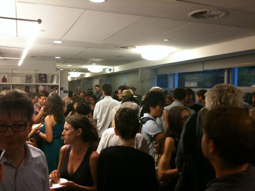The reception after the reading