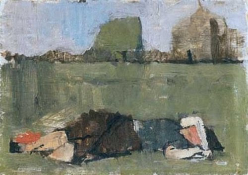 startfromwhereyouare:  Jane, Clapham Common, 1951 oil on board Euan Uglow