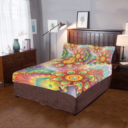 colorful-abstract 3D 3-Pieces Bedding Set