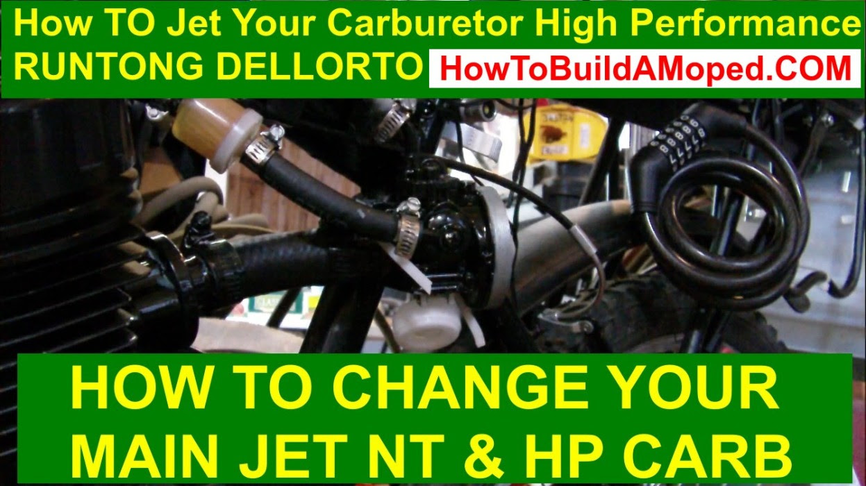 How TO Jet Your Carburetor High Performance RUNTONG DELLORTO How To Build a Motorized Bike Part 41