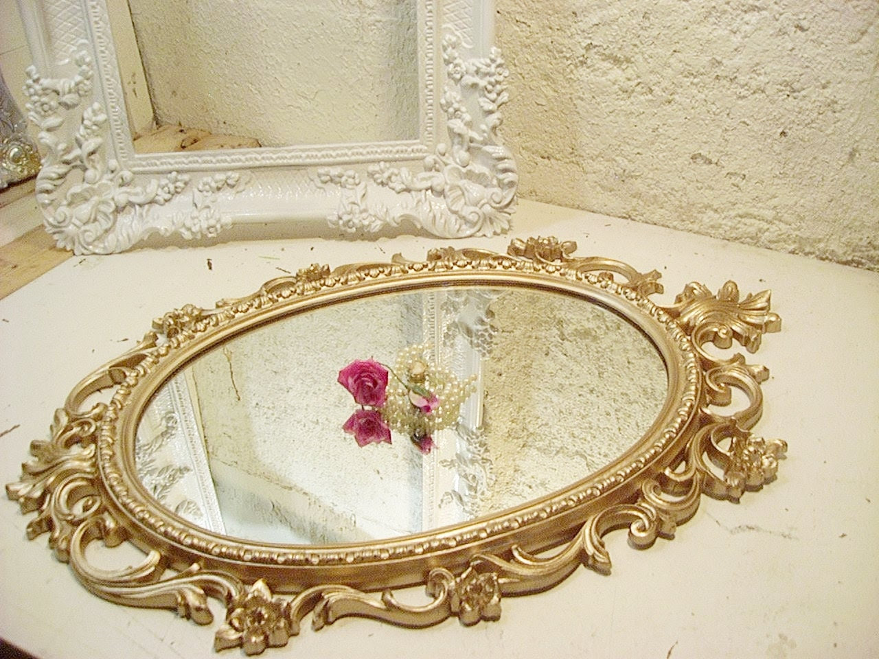 Large Ornate Victorian Mirror Shabby French Country YOU PICK COLOR