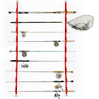 Prosumer's Choice 9 Loop Flexible Fishing Rod Rack for Garage, Storage Shed, Boat or Vehicle