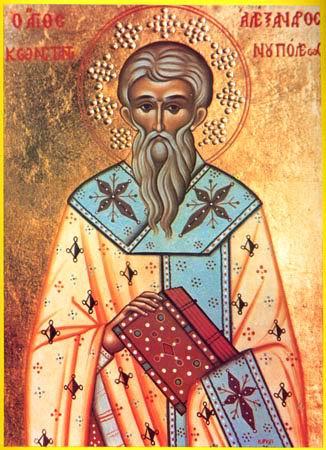 Αποτέλεσμα εικόνας για sfantul alexandru patriarh constantinopol