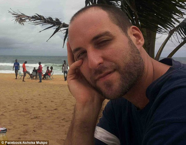 Colorful family: Ashoka Mukpo, an 33-year-old American freelance journalist working in Monrovia, Liberia, has tested positive for Ebola, his biological father has confirmed
