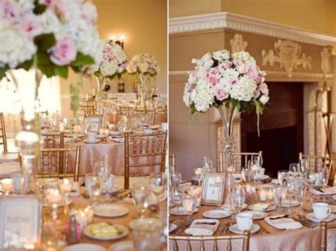 Blush and Champagne Wedding Decor. Love love love! Preston