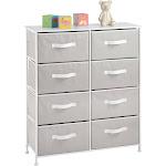 mDesign 8 Drawer Fabric Dresser Storage Organizer Light Gray/White   Light Gray/White   mDesign Home Decor