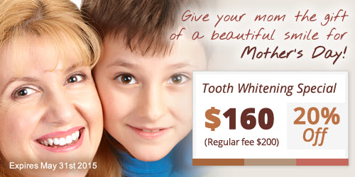 Mother's Day Special: 20% Off in Tooth Whitening, Perfect Gift for your Mom!