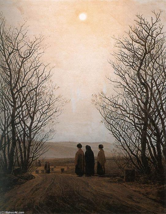 Pascua por la mañana (4), óleo sobre lienzo de Caspar David Friedrich (1774-1840, Germany)