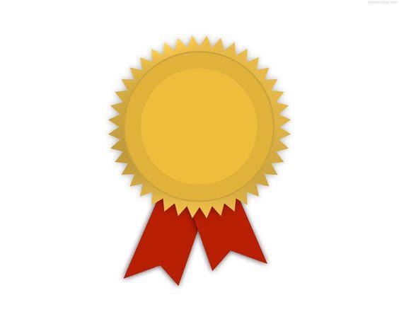 award metal template | Gold medal with ribbon | PhotosInBox.com ...