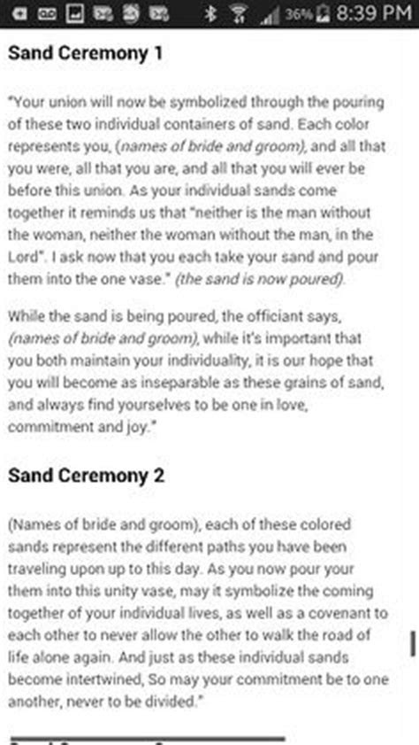 words for sand ceremony at wedding   Unity Sand Ceremony