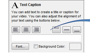 Add captions and text as you record from your screen, webcam, or video capture device.