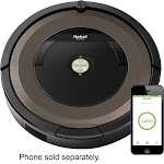 iRobot - Roomba 890 Wi-Fi Connected Robot Vacuum with Dual Mode Virtual Wall Barrier - Black/brown