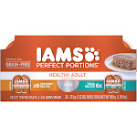 Iams Perfect Portions Cat Food, Premium, Pate, Healthy Adult, Twin Pack, Multipack - 24 pack, 1.32 oz packs