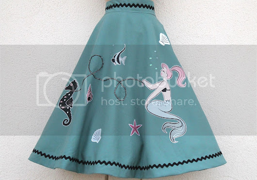 Sewing Project: Mermaid Applique Skirt