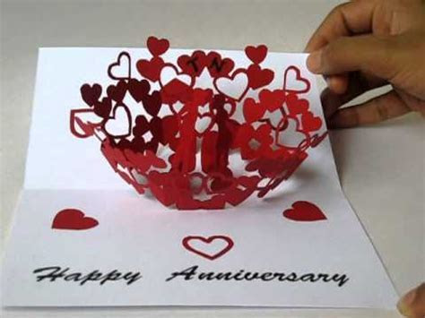 anniversary pop up card   YouTube