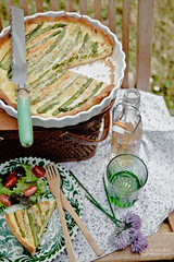 Smoked Cheddar and Asparagus Quiche by Meeta K. Wolff